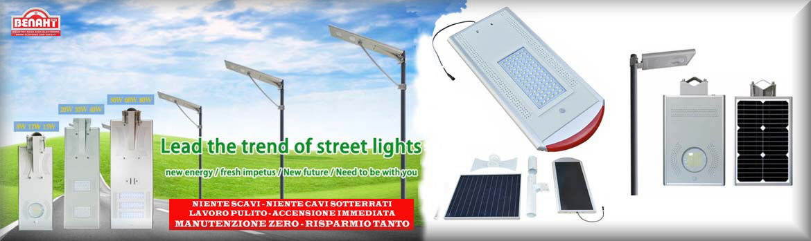 street and garden lamps with photovoltaics